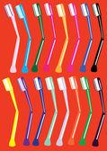 Uppsättning av tandborstar — Stockvektor