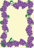 Cornice astratta da canne d'uva blu scuro — Vettoriale Stock