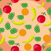 Abstract pattern with fruits — Vecteur