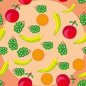 Meyve ile soyut desen — Stok Vektör