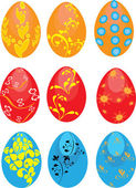 Set of Easter eggs on the isolated background — Stock Vector