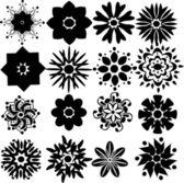 Set of flowers — Stock Vector
