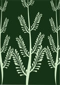 Frame with fern green — Stockvector