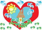 L'amour d'un pays natal — Vecteur