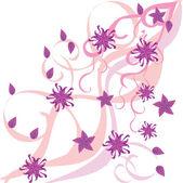 温柔的花朵背景 — 图库矢量图片