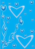 Abstract blue background with heart — Stock Vector