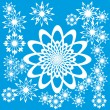 Royalty-Free Stock Vector Image: Abstract background with flowers or snowflakes