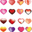 Set with hearts.mesh. — Stock Vector