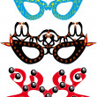 Royalty-Free Stock Vector Image: Set of carnival masks