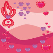Abstract background with hearts — Stockvector