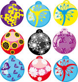 Set of New Year's balls — Stock Vector