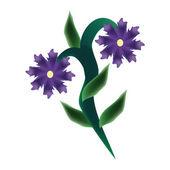 One flower — Stock Vector