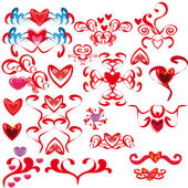 Set with hearts1 — Stock Vector