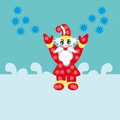 Santa sta arrivando — Vettoriale Stock