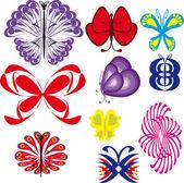 Set di farfalle — Vettoriale Stock