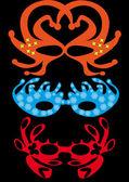 Set of carnival masks — Stock Vector