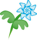 Mesh flower on isolated background — 图库矢量图片
