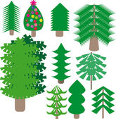 Tree on isolated background — Stock Vector
