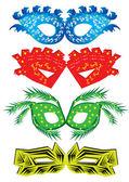 カーニバル マスクのセット — ストックベクタ