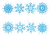 Set of snowflakes — Vettoriale Stock