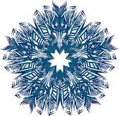抽象孤立的矢量雪花 — 图库矢量图片