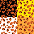 Set of seamless structures with pumpkins - Imagen vectorial