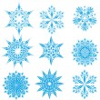 Set of snowflakes — Stockvektor