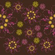 Royalty-Free Stock Vektorgrafik: Abstract pattern with flowers