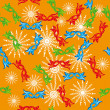 Seamless pattern with carnival masks - Stock vektor