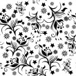 Abstract pattern with flowers — 图库矢量图片