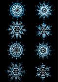 Vector snowflakes — Stock Vector