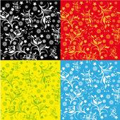 Abstract patroon met bloemen — Stockvector