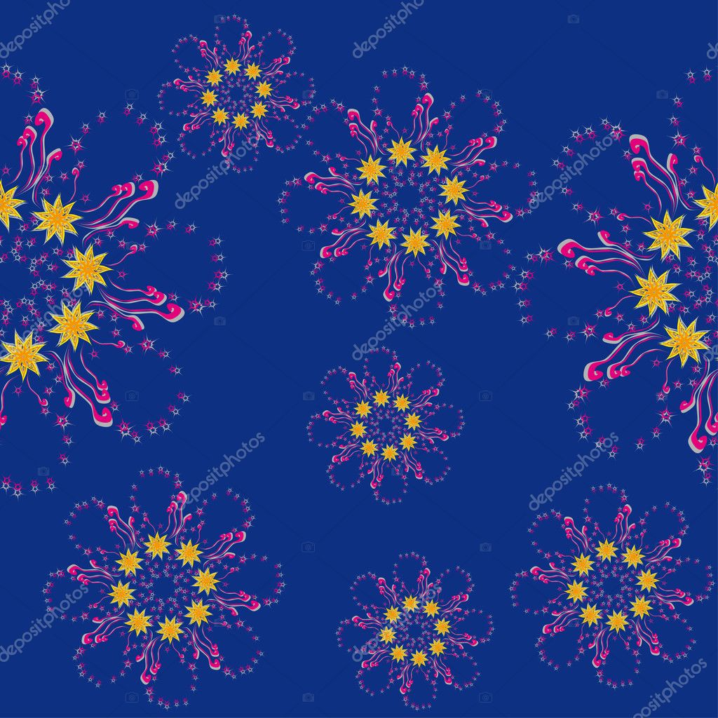 Abstract seamless texture witn flowers. illustration — Stock Vector #7248824