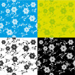 Abstract pattern with flowers — Stockvektor