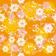 Abstract pattern with flowers - 图库矢量图片