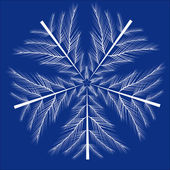 Floco de neve abstract vector isolado — Vetorial Stock