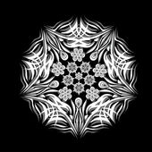 Abstract isolated vector snowflake — Wektor stockowy