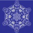 Abstract isolated vector snowflake — Vector de stock #7312765