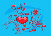 Love heart — Vettoriale Stock