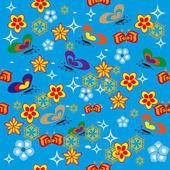 Cheerful children wallpaper — Stock Vector