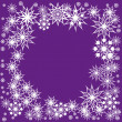 Floral winter frame with snowflakes - Stock Vector