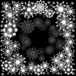 Floral winter frame with snowflakes — Stock Vector #7403846