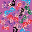 Seamless pattern with carnival masks - Vettoriali Stock