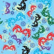 Seamless pattern with carnival masks - 图库矢量图片
