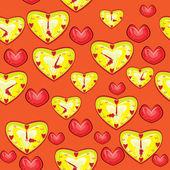 Patrón abstracto con corazones de colores. ilustración — Vector de stock