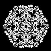 抽象的な分離ベクトル スノーフレーク — ストックベクタ