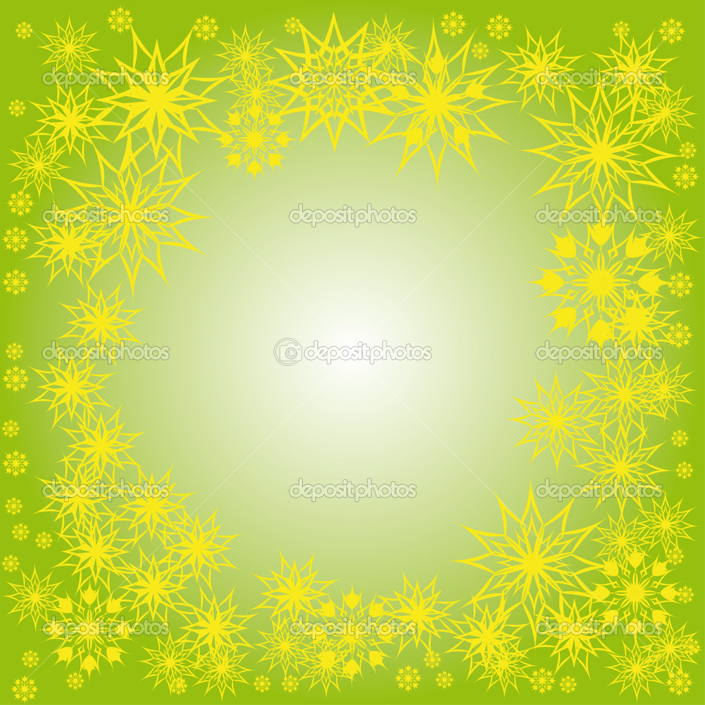 Floral winter frame with snowflakes. illustration. — Stock Vector #7403667