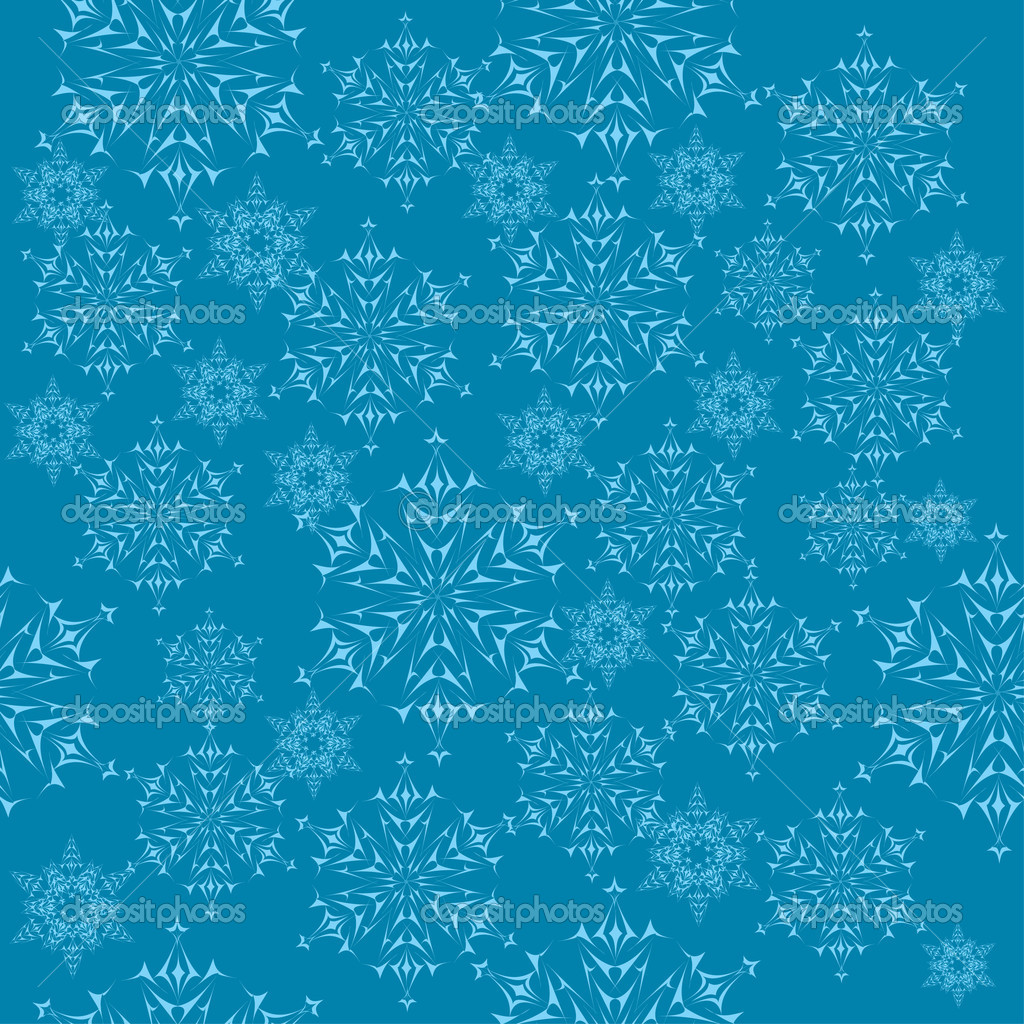 Winter background with snowflakes. illustration — Stock Vector #7403872