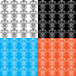 Winter seamless pattern - Stok Vektör