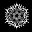 Abstract isolated vector snowflake - Grafika wektorowa